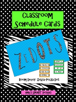 Schedule Cards: Zedot Decor- Zebra Polka Dot