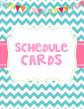 Schedule Cards and Table Numbers - Chevron Style - Classro