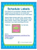 Schedule Cards - blue and green