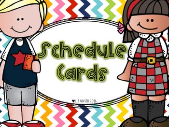 Schedule Cards- (chevron, diagonal stripes, polka dots)