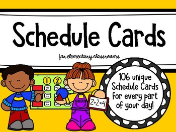Schedule Cards for Elementary Classrooms