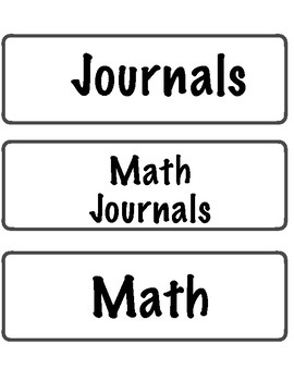 Schedule Cards for Elementary Students