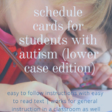 Schedule Cards for Students with Autism (Lower Case Edition)