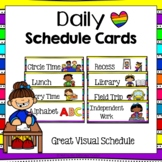 Schedule Cards for a Visual Schedule (Editable)- For Preschoolers