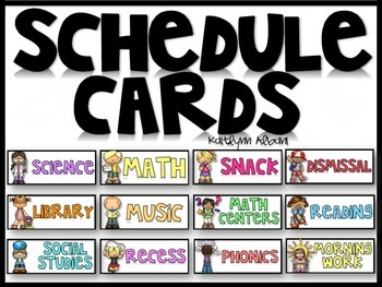Schedule Cards for the Classroom