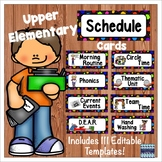 Schedule Cards for the Upper Elementary Classroom