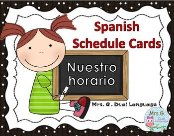 Schedule Cards in Spanish