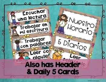 Schedule Cards in Spanish {Tarjetas de Horario en Español}