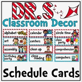 Schedule Cards in a Dr. S Inspired Classroom Decor Theme
