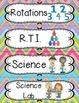 Schedule Cards in a Pastel Rainbow Chevron Design