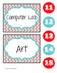 Schedule Cards (red and turquoise)