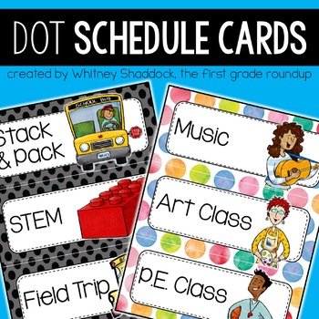 Daily Schedule Cards {Elementary}: Dots