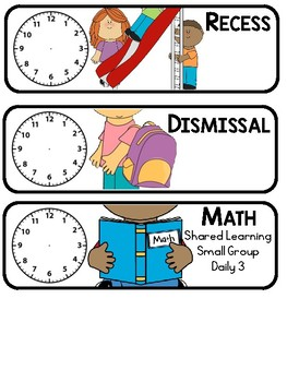 Schedule Cards with Analog Clock