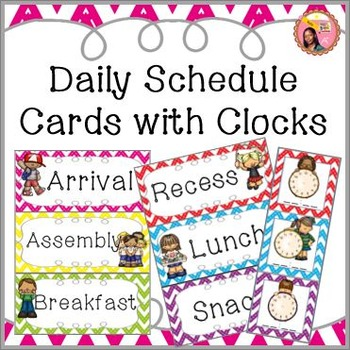Schedule Cards for fixed daily non-subject routines - Chev