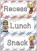Schedule Cards for fixed daily non-subject routines - Polk