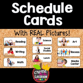 Schedule Cards with REAL Pictures