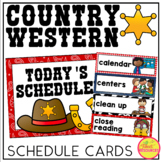 Schedule Cards in a Country Western Classroom Decor Theme