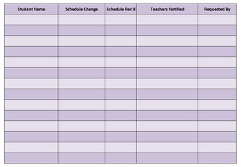 Schedule Change (Class Add and Drop) Editable Forms