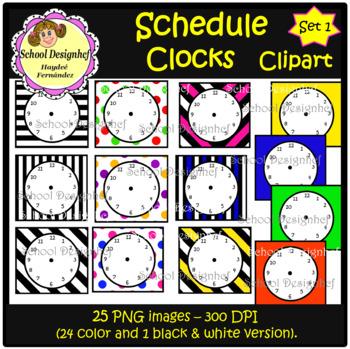 Schedule Clocks (School Designhcf)
