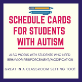 """Schedule Cards for Students with Autism (With a """"cool"""" col"""