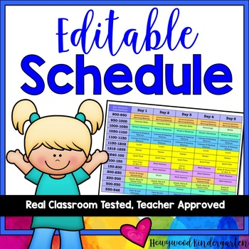 Schedule ... EDITABLE, colorful, & awesome!