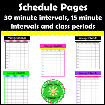 Schedule Forms