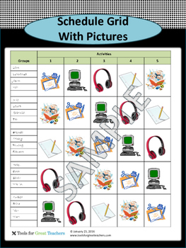 Schedule Grid with Pictures