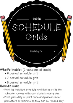 Schedule Grids