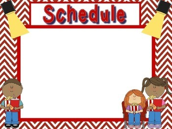 Schedule Holder Signs