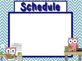 Schedule Holder Signs