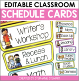 Schedule Cards Bright (Editable)