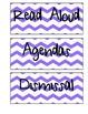 Schedule Labels (Blue Chevron)