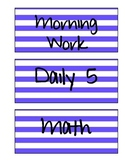 Schedule Labels (Blue Stripe)