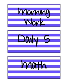 Schedule Labels (Blue Stripe)