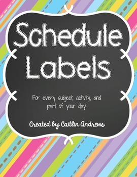 Schedule Labels-Chalkboard Theme