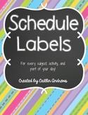 Schedule Labels-Chalkboard Theme