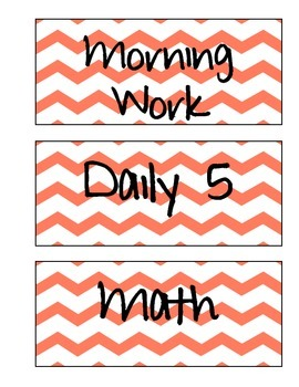 Schedule Labels (Orange Chevron)