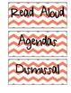 Schedule Labels (Orange Chevron)