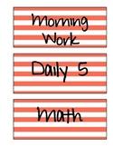 Schedule Labels (Orange Stripe)
