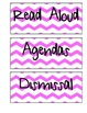 Schedule Labels (Pink Chevron)
