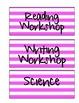 Schedule Labels (Pink Stripe)