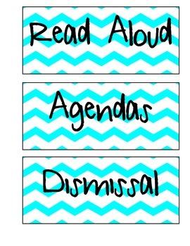 Schedule Labels (Turquoise Chevron)