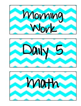 Schedule Labels (Turquoise Chevron)
