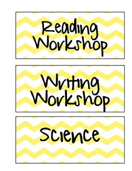 Schedule Labels (Yellow Chevron)