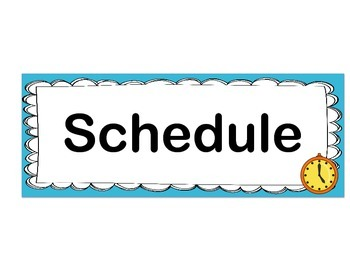 Schedule, Language and Content Objective Headers