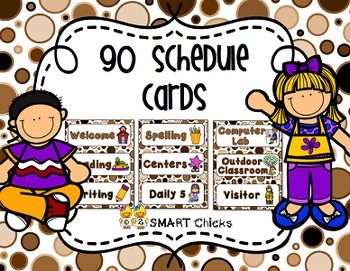 Schedule {Neutral Dots Background – 90 Cards}