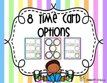 Schedule {Pastel Stripes Background - 90 Cards}