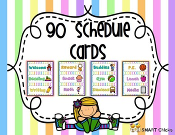 Schedule {Pastel Stripes Background - 90 Cards}