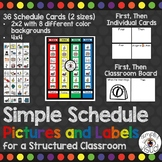 Schedule Pictures and Labels for a Structured Classroom