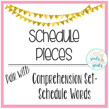 Schedule Pieces - Color Coded